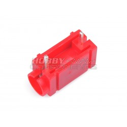 PCB Mount 4mm Banana Socket Side Stackable (Red)