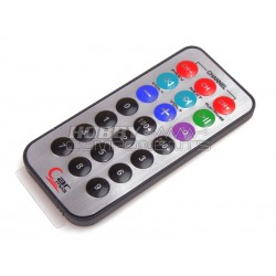 Low profile 21 button infrared IR remote