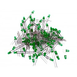 3mm Green LED's (Pack of 100)