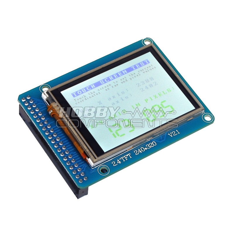 """2.4"""" Colour TFT touch screen panel"""