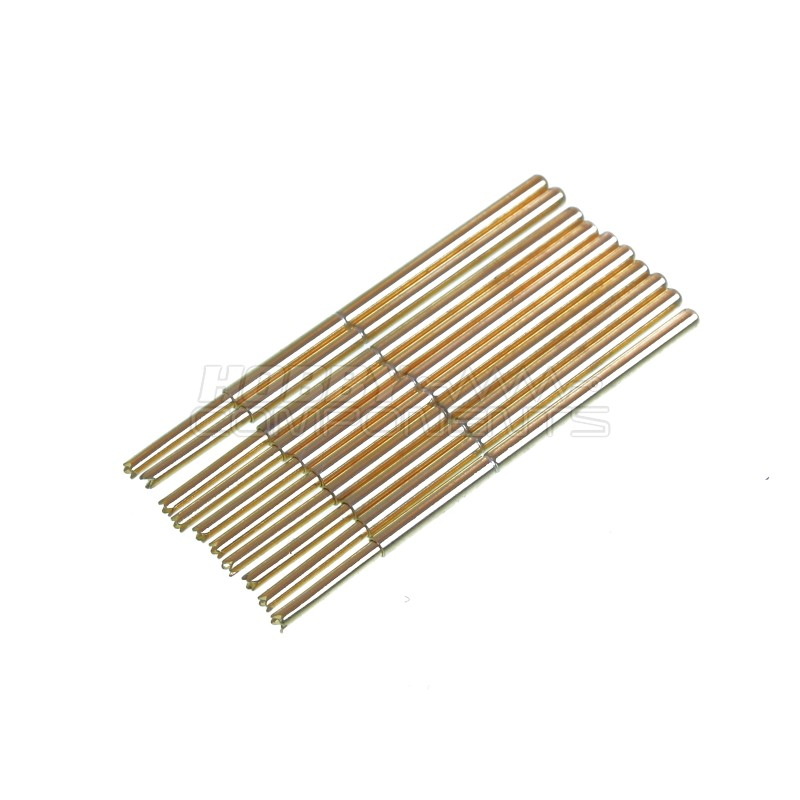 1mm crown/U tip gold plated test pins