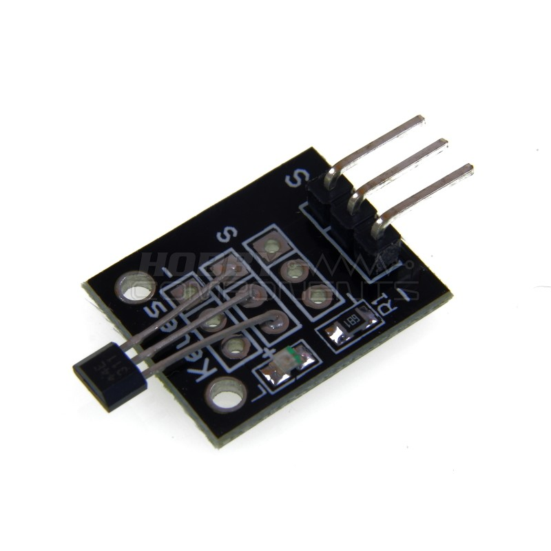 Hall effect magnetic sensor module
