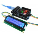 I2C Serial LCD 1602 Module - Shown with Uno and V4 Sensor Shield (sold separately)