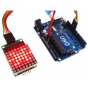 MAX7219 Serial Dot Matrix Display Module with Uno (Uno not included)