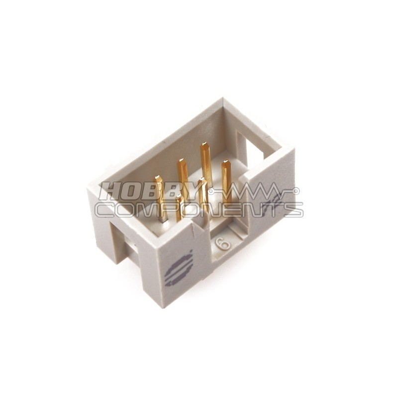 6 way IDC Polatised Header / Connector MALE PCB
