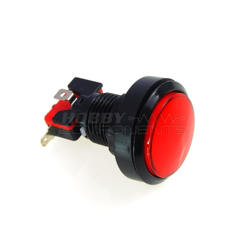 45mm Arcade Style Big Round Push Button (Red)
