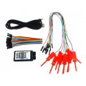 Hobby Components USB 8CH 24MHz Logic Analyser and Test Hook Clip Bundle