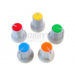 16mm Potentiometer Cap (Available in Various Colours)