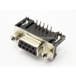 Taicom 9-pin D-sub PCB Mount Right Angle – Female D Connector