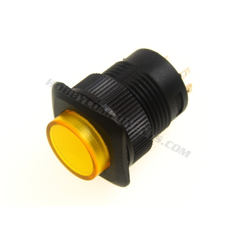 R16-504BD 16mm Push Button Switch (Yellow)