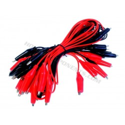 Pack of 20 Crocodile Leads - Red and Black