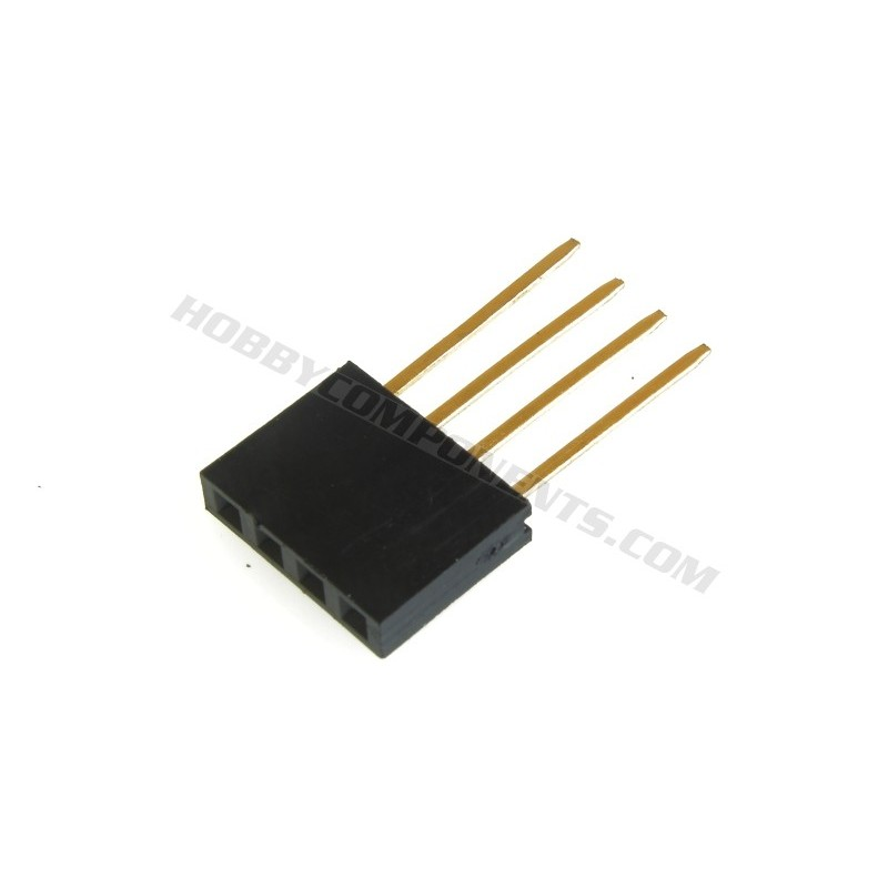 4 Pin 11mm Female Header Connector