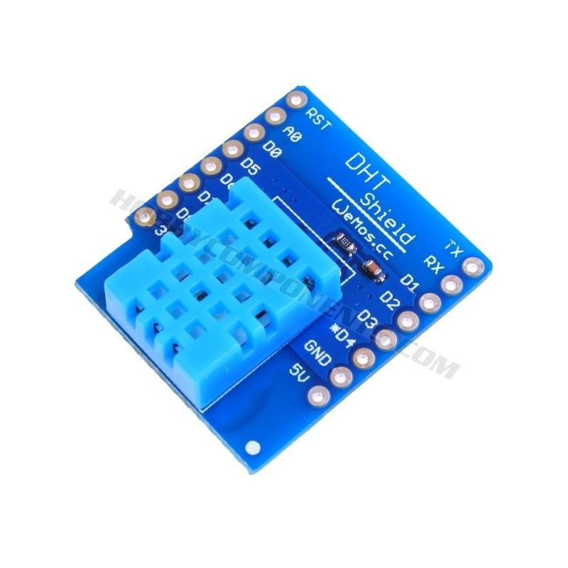 WeMos D1 Mini DHT Temp/Hum Shield