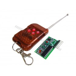 4 Channel 433MHz wireless receiver with remote fob