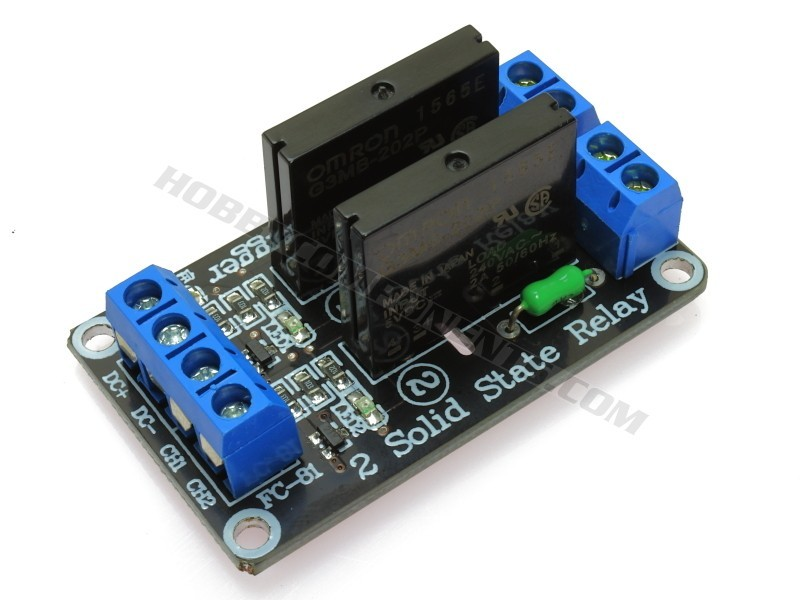 5V 2 Channel 240V AC Solid State Relay Hobby Components