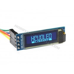 "0.9"" 128 x 32 Serial I2C uOLED Display (Blue)"