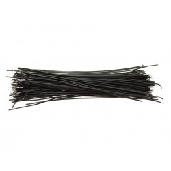 10cm Tinned Breadboard Jumper Cable Wires (Black)