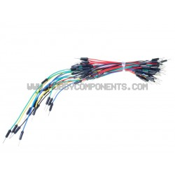 Arduino Breadboard Jumper Cable Wires (65-Cable Pack)