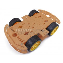 4 Wheeled Robot Smart Car Chassis Kit DC 3V 5V 6V suitable for Arduino