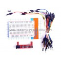 "Red Wings Breadboard Kit - 400 point Breadboard, ""Red Wings"" Power supply module & Cable Bundle"