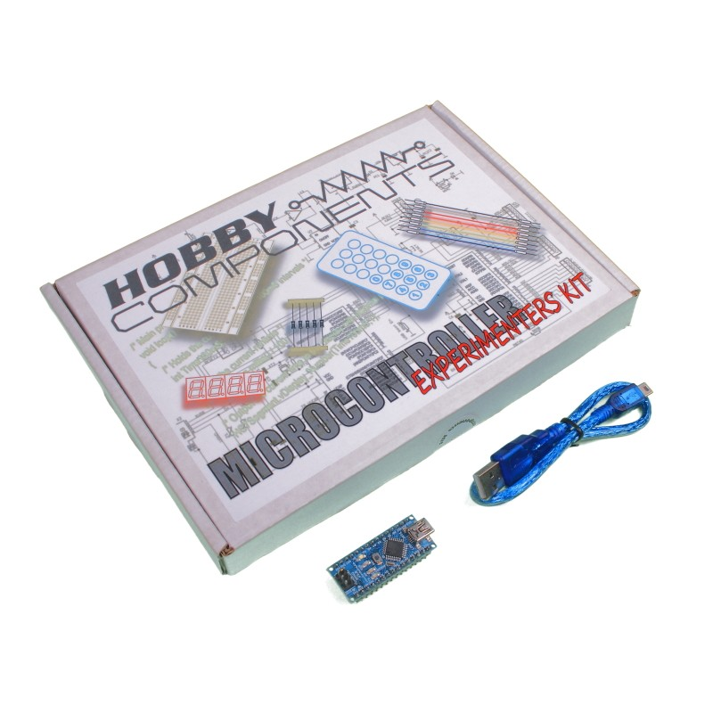 Hobby Components Microcontroller Experimenter's Kit with Arduino Compatible Nano
