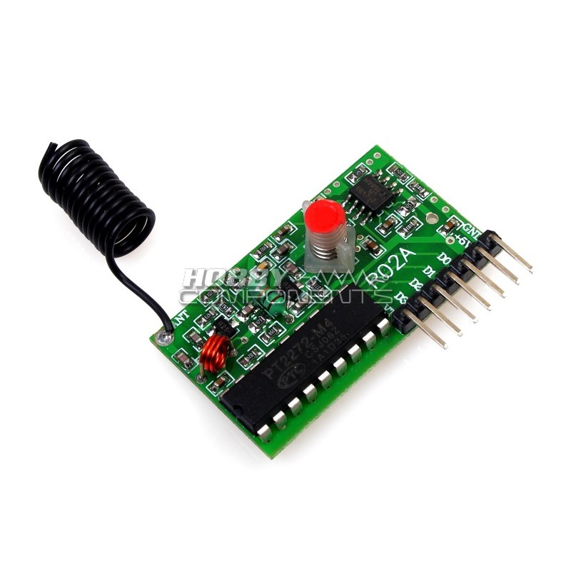 PT2272 Wireless Receiver Module (433MHz version)