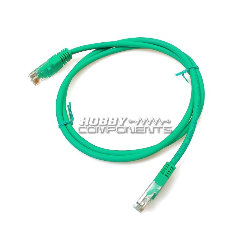 0.5M RJ45 CAT 5E Ethernet patch cable in Green