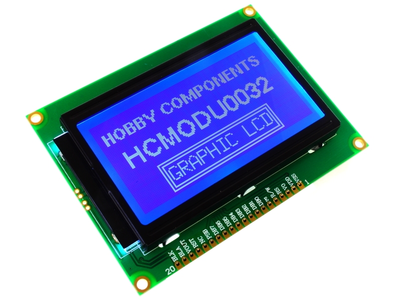 12864B Parallel/Serial Graphic LCD Module (HCMODU0032) - forum