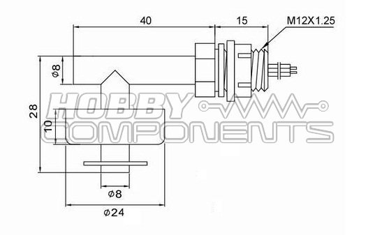 side mounted water level    float switch  hcsens0015