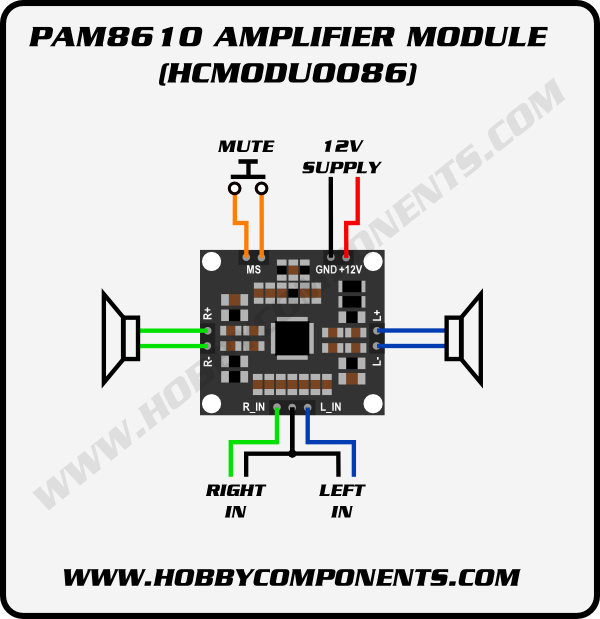 Pam8610 10w Stereo Audio Amplifier Module Hcmodu0086