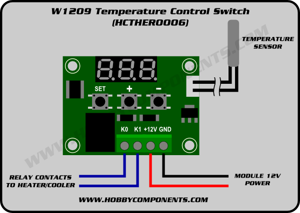 DC 5V Digital Temperature Controller Centigrade Thermostat w//Sensor 1 Relay
