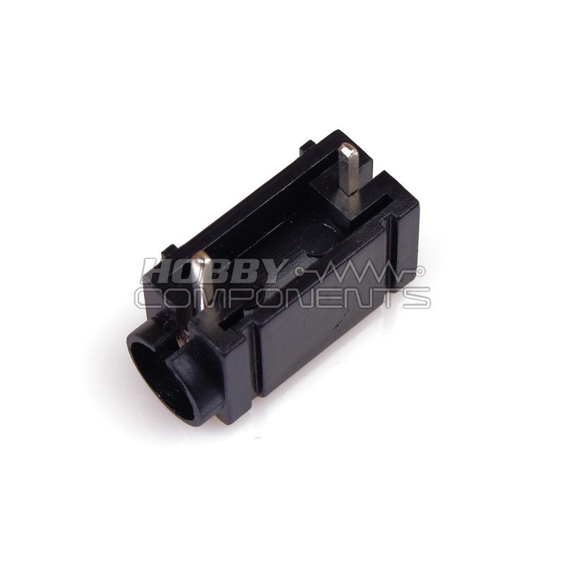 PCB Mount 4mm Banana Socket Side Stackable (Black)