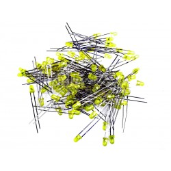 3mm Yellow LED's (Pack of 100)