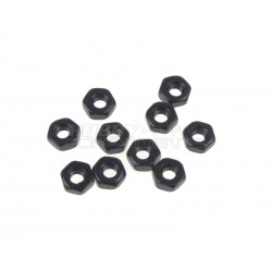 M2 Carbon Steel Hex Nut (Black)