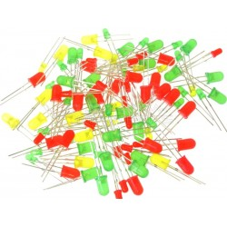 100pcs LED 3MM and 5MM led light emitting diode in red, green and yellow