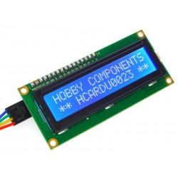 I2C Serial LCD 1602 Module Front View - Cable not included