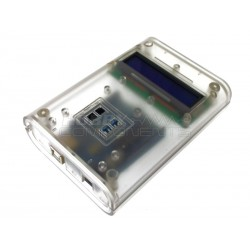 Uno Enclosure Kit – R3 Revision 3 Arduino compatible Uno, 1602 Serial LCD Module and Case