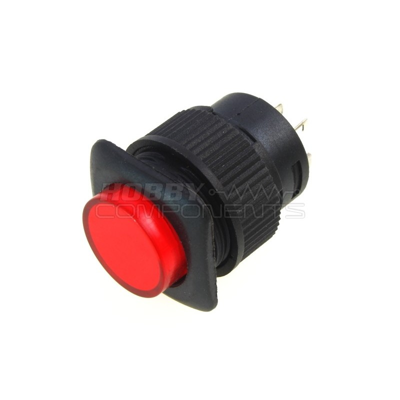 R16-504BD 16mm Push Button Switch (Red)