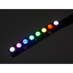 Digitally controlled 8x RGB LED Light Strip