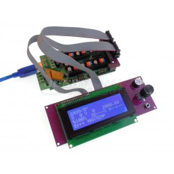 RAMPS compatible LCD controller module shown here with R3 Mega and Ramps shield (not included)
