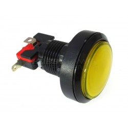 45mm Arcade Style Big Round Push Button (Yellow)