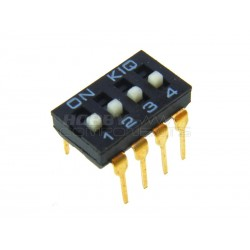Dual Row 8 Pin 4 Way Slide Type DIP Switch