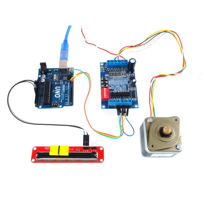 Arduino Example (Uno, Potentiometer, and Stepper motor not included)