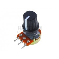 Value 15mm Threaded Potentiometer Knob (potentiometer not included)