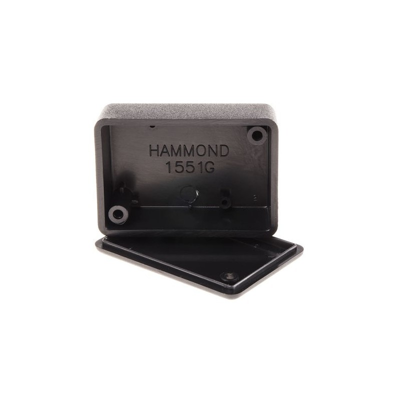 Hammond 1551GBK Miniatureature ABS Enclosure Black 50x35x20mm