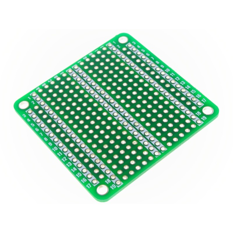 50x50mm Coloured Breadboard Style Prototyping Boards