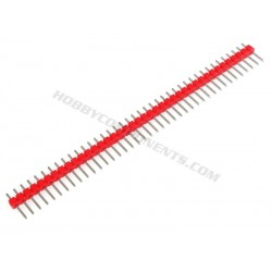 Single Row 40-Pin 2.54mm Pitch Pin Header (Red, Blue, Yellow, White or Black)