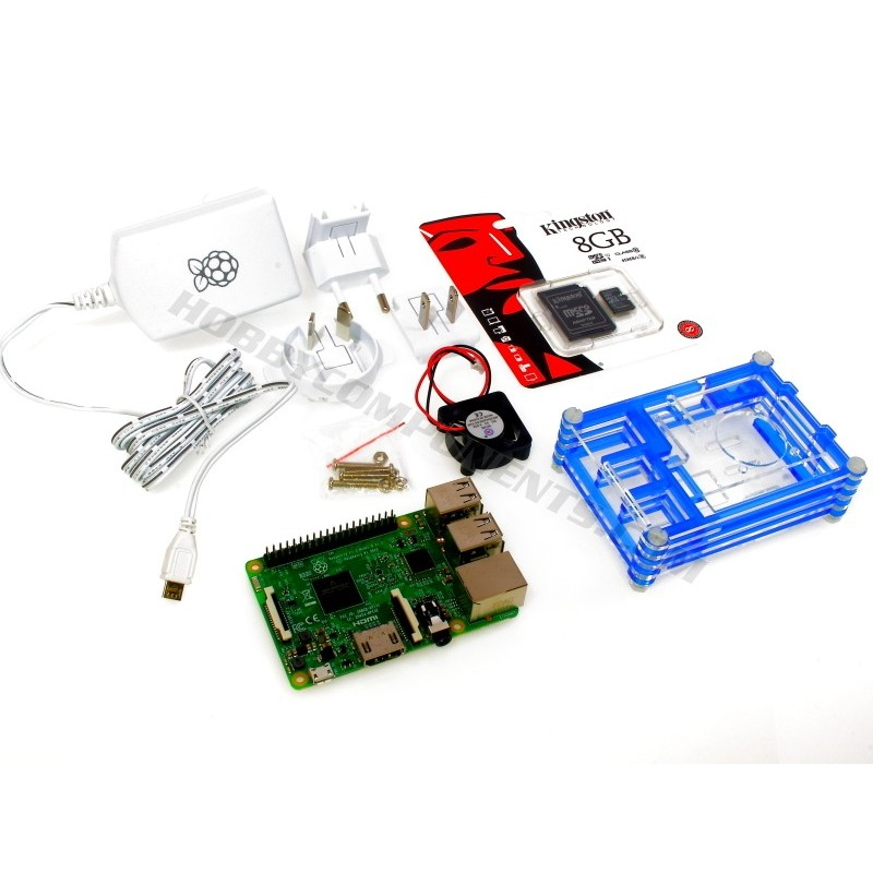 Pi 3, Case, MicroSD Card & Power Supply