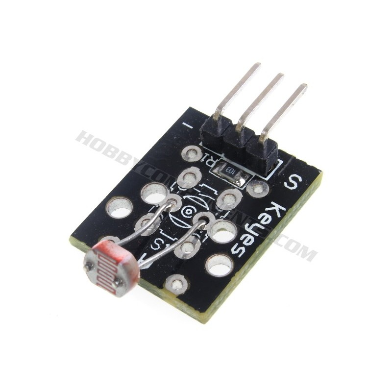 Photoresistive light dependent resistor module. KY-018.