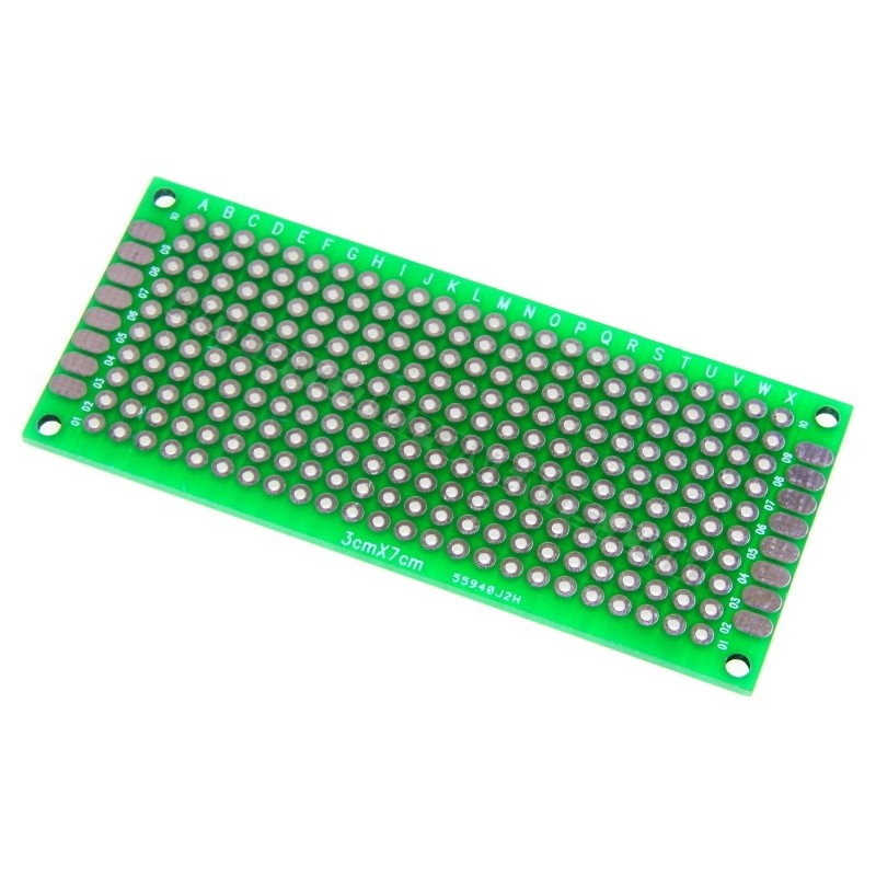 Double-Sided Glass Fiber Prototyping PCB Universal Board (3 x 7)